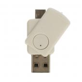 Cititor card  MicroSD USB OTG CR08, Alb Blister