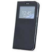 Husa Piele OEM Smart Look pentru Samsung Galaxy A30 A305 / Samsung Galaxy A20 A205, Neagra