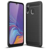 Husa TPU Forcell Carbon pentru Samsung Galaxy A40 A405, Neagra