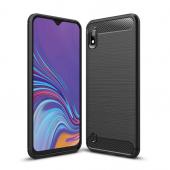 Husa TPU OEM Carbon pentru Samsung Galaxy A10 A105, Neagra, Bulk