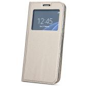 Husa Piele OEM Smart Look pentru Samsung Galaxy A50 A505 / Samsung Galaxy A50s A507 / Samsung Galaxy A30s A307, Aurie, Bulk