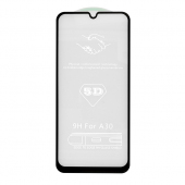 Folie Protectie Ecran OEM pentru Samsung Galaxy A30 A305 / Samsung Galaxy A30s A307 / Samsung Galaxy A50 A505 / Samsung Galaxy A50s A507, Sticla securizata, Full Face, Full Glue, 5D, Neagra, Blister