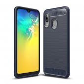 Husa TPU OEM Carbon pentru Samsung Galaxy A20e, Bleumarin, Bulk