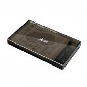 Carcasa externa HDD 2.5 inch SATA OEM 2 TB USB 3.0, Gri Transparenta, Blister