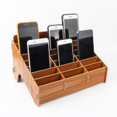 Suport service din lemn pentru organizare telefoane