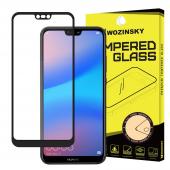 Folie Protectie Ecran WZK pentru Huawei P20 Lite, Sticla securizata, Full Face, Full Glue, Neagra