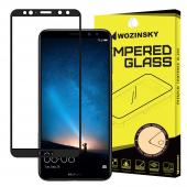 Folie Protectie Ecran WZK pentru Huawei Mate 10 Lite, Sticla securizata, Full Face, Full Glue, Neagra, Blister