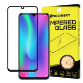 Folie Protectie Ecran WZK pentru Samsung Galaxy A40 A405, Sticla securizata, Full Face, Full Glue, Neagra, Blister