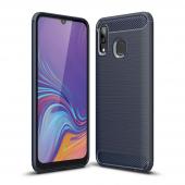 Husa TPU OEM Carbon pentru Samsung Galaxy A10 A105, Bleumarin, Bulk
