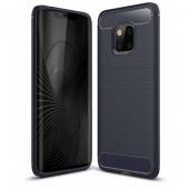 Husa TPU OEM Carbon pentru Samsung Galaxy A70 A705, Bleumarin, Bulk