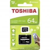Card Memorie MicroSD Toshiba M203, Cu adaptor, 64Gb, UHS-1 U1, Blister THN-M203K0640EA