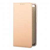 Husa Piele OEM Smart Magnet pentru Samsung Galaxy A20e, Aurie, Bulk