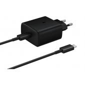 Incarcator Retea Samsung Super Fast Charge PD 45W, 1 X USB-Type-C, Negru, Blister EP-TA845XBEGWW