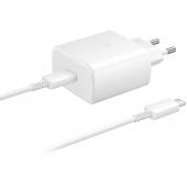 Incarcator Retea Samsung Fast Charge, 1 X USB-Type-C, 45W, Alb EP-TA845XWEGWW