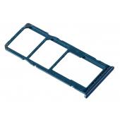 Suport SIM 1 / 2 si card Samsung Galaxy A10 A105 Dual SIM, Albastru