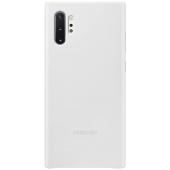 Husa Piele Samsung Galaxy Note 10+ N975 / Note 10+ 5G N976, Leather Cover, Alba, Blister EF-VN975LWEGWW