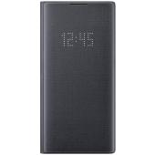 Husa Samsung Galaxy Note 10+ N975 / Note 10+ 5G N976, LED View Cover, Neagra, Blister EF-NN975PBEGWW