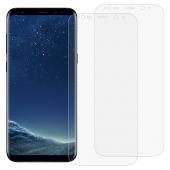 Folie Protectie Ecran OEM pentru Samsung Galaxy S8+ G955, Plastic, Full Face, Edge Glue, Set 2 buc, 3D, Blister
