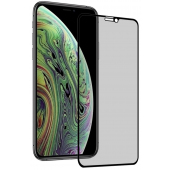 Folie Protectie Ecran OEM pentru Apple iPhone X / Apple iPhone XS, Sticla securizata, Full Face, Edge Glue, Privacy, 5D+, Neagra, Blister