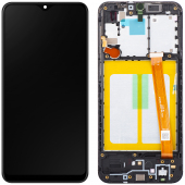 Display - Touchscreen Samsung Galaxy A20e A202, Cu Rama, Negru GH82-20186A