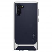Husa Plastic - TPU Spigen Neo Hybrid pentru Samsung Galaxy Note 10 N970 / Samsung Galaxy Note 10 5G N971, Argintie - Bleumarin 628CS27384