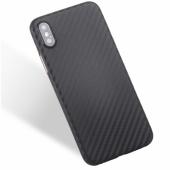 Husa TPU OEM Carbon Fiber pentru Samsung Galaxy A10 A105, Neagra, Bulk