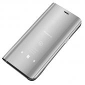 Husa Plastic OEM Clear View pentru Samsung Galaxy A70 A705, Argintie, Blister