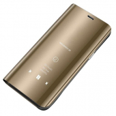 Husa Plastic OEM Clear View pentru Samsung Galaxy A20e, Aurie, Blister