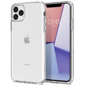Husa TPU Spigen Liquid Crystal pentru Apple iPhone 11 Pro Max, Transparenta, Blister 075CS27129