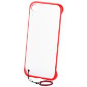 Husa Plastic - TPU OEM Frosted cu suport inel telefon pentru Samsung Galaxy S10 G973, Rosie