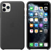 Husa Piele Apple iPhone 11 Pro, Neagra, Blister MWYE2ZM/A