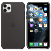 Husa Silicon Apple iPhone 11 Pro Max, Neagra, Blister MX002ZM/A