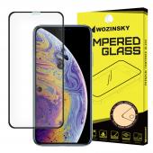 Folie Protectie Ecran WZK pentru Apple iPhone X / Apple iPhone XS , Sticla securizata, Full Face, Full Glue, Neagra, Blister