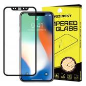 Folie Protectie Ecran WZK pentru Apple iPhone XS Max/ Apple iPhone 11 Pro Max, Sticla securizata, Full Face, Full Glue, Neagra, Blister