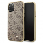 Husa Plastic - TPU Guess 4G pentru Apple iPhone 11 Pro, Maro GUHCN58G4GB