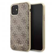 Husa Plastic - TPU Guess 4G pentru Apple iPhone 11, Maro GUHCN61G4GB