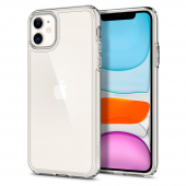 Husa Plastic - TPU Spigen Ultra Hybrid Crystal Clear pentru Apple iPhone 11, Transparenta, Blister 076CS27185