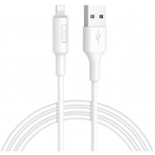 Cablu Date si Incarcare USB la Lightning HOCO Soarer X25, 1 m, Alb