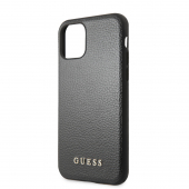 Husa Piele Guess pentru Apple iPhone 11, Iridescent, Neagra, Blister GUHCN61IGLBK