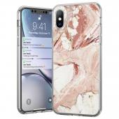 Husa TPU WZK Marble pentru Samsung Galaxy A40 A405, Roz