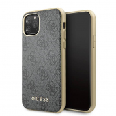 Husa Plastic - TPU Guess 4G pentru Apple iPhone 11, Gri GUHCN61G4GG