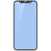 Folie Protectie Ecran Mocolo pentru Apple iPhone 11 Pro, Sticla securizata, Full Face, Full Glue, 0.33mm, 9H, 2.5D, Anti Blue-Ray, Blister