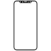 Folie Protectie Ecran Mocolo pentru Apple iPhone 11 Pro Max, Sticla securizata, Full Face, Full Glue, 0.33mm, 9H, 2.5D, Neagra, Blister