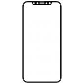 Folie Protectie Ecran Mocolo pentru Apple iPhone 11 Pro, Sticla securizata, Full Face, Full Glue, 0.33mm, 9H, 2.5D, Neagra, Blister