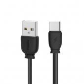 Cablu Date si Incarcare USB la USB Type-C Remax Suji RC-134a, 2.1A, 1 m, Negru