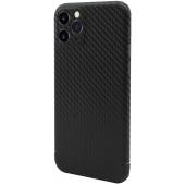 Husa Fibra Carbon Nevox pentru Apple iPhone 11 Pro Max, CarbonSeries, Neagra, Blister