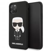 Husa TPU Karl Lagerfeld Iconic pentru Apple iPhone 11 Pro, Neagra, Blister KLHCN58SLFKBK