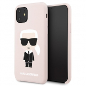 Husa TPU Karl Lagerfeld Iconic pentru Apple iPhone 11, Roz KLHCN61SLFKPI