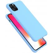Husa TPU OEM Shockproof Frosted pentru Apple iPhone 11 Pro, Bleu, Bulk