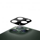 Folie Protectie Camera spate Mocolo pentru Apple iPhone 11 Pro, Sticla securizata, 0.15mm, 9H, 2.5D, Neagra, Blister